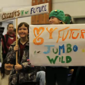 """Keep Jumbo Wild"" rally in Nelson, B.C."